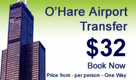 O'Hare airport shuttle : Book your transfer now